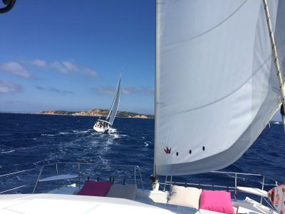 Superb sailing between Sardinia and Corsica